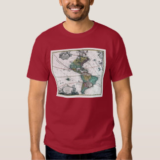 1725 South and North America Map T Shirt