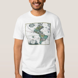 1725 South and North America Map Tee Shirt