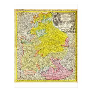 1728 Homann Map of Bavaria Germany Geographicus Postcard