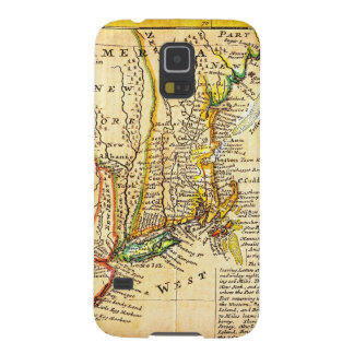 1729 Moll Map of New York New England and Pennsy Galaxy S5 Case