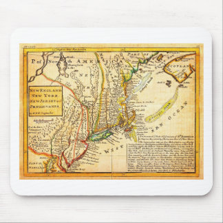 1729 Moll Map of New York New England and Pennsy Mouse Pad
