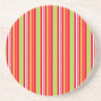 172__busan-beach-2-paper-2 STRIPES PATTERN ORANGES Coaster