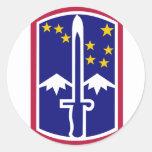 172nd Infantry Brigade Round Sticker
