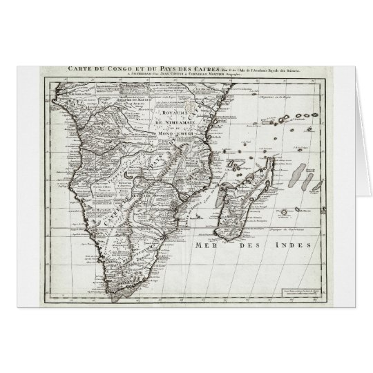 1730 Covens and Mortier Map of Southern Africa G Card