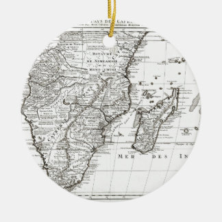 1730 Covens and Mortier Map of Southern Africa G Ceramic Ornament