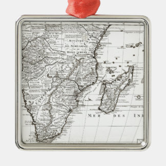 1730 Covens and Mortier Map of Southern Africa G Metal Ornament