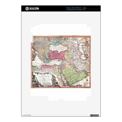 1730 Seutter Map of Turkey (Ottoman_Empire) Persi Decal For The iPad 2