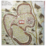 1730 Street Map or Plan of Jerusalem Geographicu Cloth Napkins