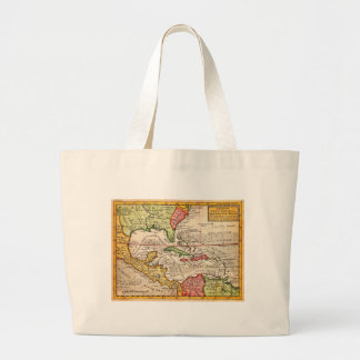 1732 Herman Moll Map of the West Indies and Caribb Canvas Bag