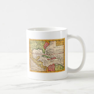 1732 Herman Moll Map of the West Indies and Caribb Classic White Coffee Mug