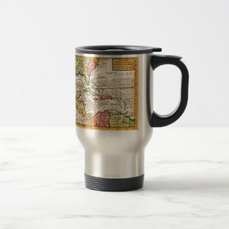 1732 Herman Moll Map of the West Indies and Caribb Travel Mug