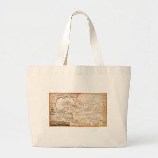 1732 Herman Moll Map of the West Indies Florida Bags