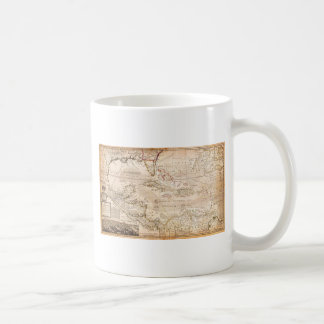 1732 Herman Moll Map of the West Indies Florida Classic White Coffee Mug