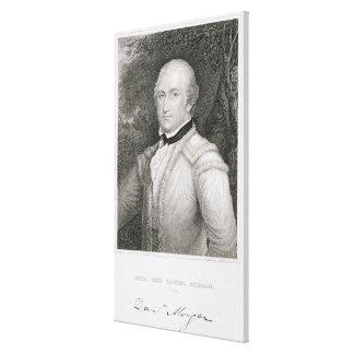 1736-1802) engrav de general de brigada Daniel Mor Lona Envuelta Para Galerias