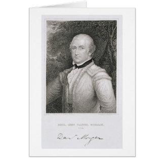 1736-1802) engrav de general de brigada Daniel Mor Tarjetas