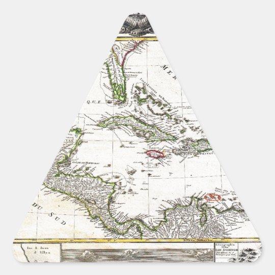 1737 Homann Heirs DAnville Map of Florida Triangle Sticker