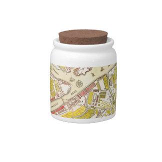 1737 map of Saint Petersburg Candy Jar