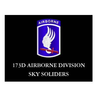 173D Airborne Division Postcard