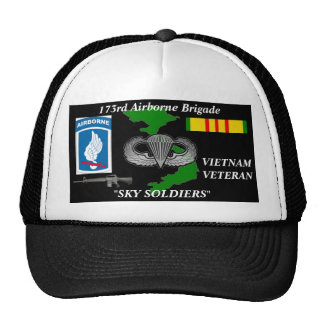 173o Casquillos de la bola del veterano de Vietnam Gorros Bordados