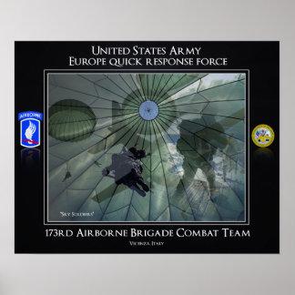 173o Equipo de combate de la brigada aerotransport Posters