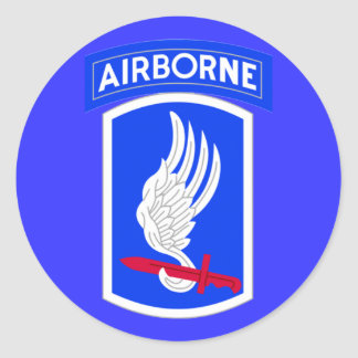 173o equipo de combate de la brigada del ejército pegatina redonda