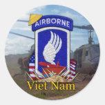 173os pegatinas de la guerra de Vietnam de la Pegatina Redonda