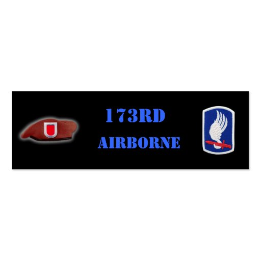 173rd airborne army patch vietnam iraq bookmarkers business card
