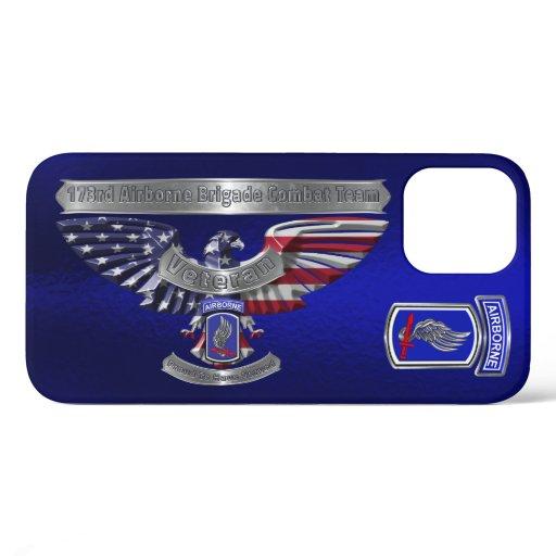 173rd Airborne Brigade Combat Team Veteran Eagle iPhone 12 Case