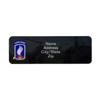 173rd airborne brigade sky soldiers nam patch custom return address label