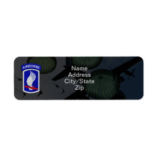173rd airborne brigade sky soldiers patch custom return address labels
