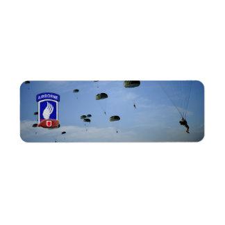 173rd airborne brigade veterans return address label