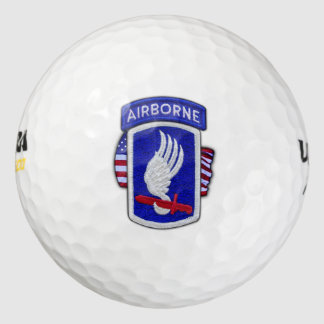 173rd airborne sky soldiers veterans vets patch golf balls