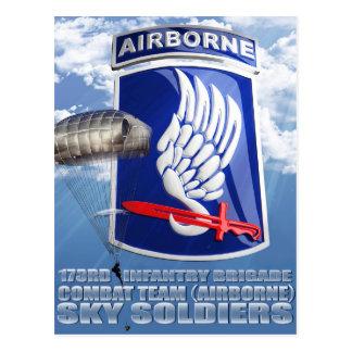 173RD Remiendo y paracaídas T-11 Tarjetas Postales