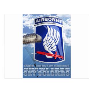 173RD Remiendo y paracaídas T-11 Tarjeta Postal