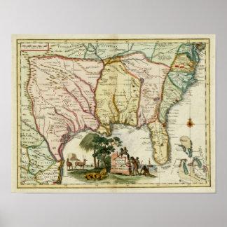 1740 Florida Map Poster