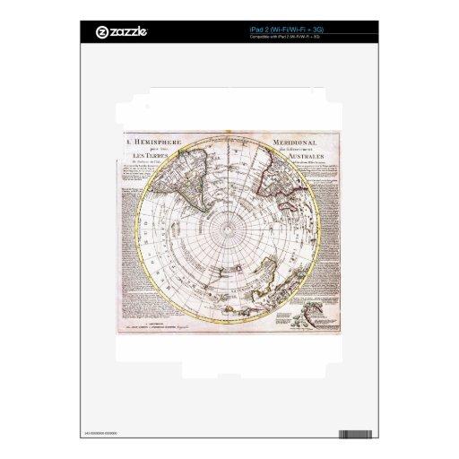 1741 Covens y mapa de Mortier del Hemisp meridiona iPad 2 Calcomanía