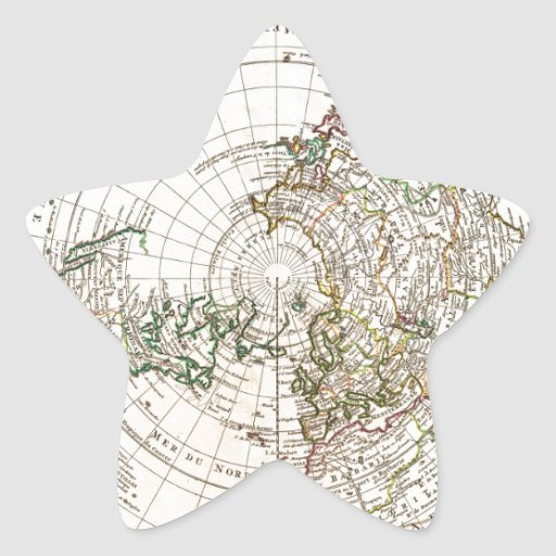 1741 Covens y mapa de Mortier del Hemisp Pegatina Forma De Estrella Personalizadas