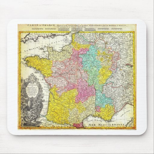 1741 Homann Heirs Map of France Geographicus F Mouse Pads