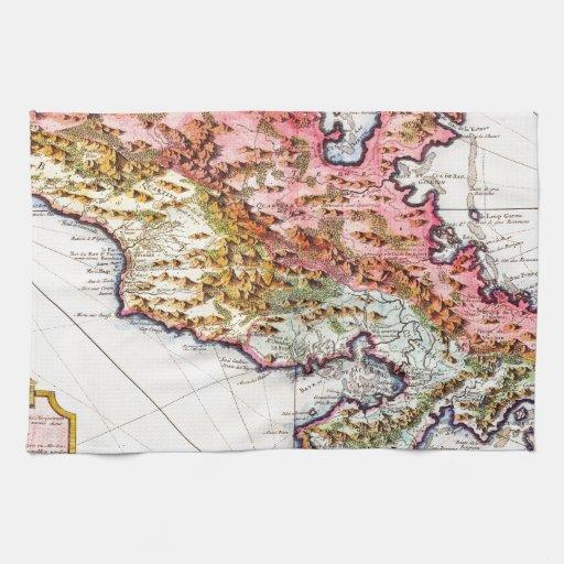 1742 Covens y mapa de Mortier de Martinica Geogra Toalla De Mano