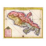 1742 Covens y mapa de Mortier de Martinica Geogra Postal