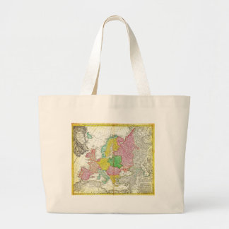1743 Homann Heirs Haas Map of Europe Geographi Tote Bag