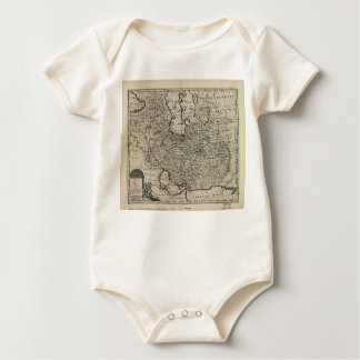 1747 New and Accurate Map of Persia Emanuel Bowen Baby Bodysuit