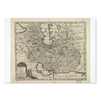 1747 New and Accurate Map of Persia Emanuel Bowen Card