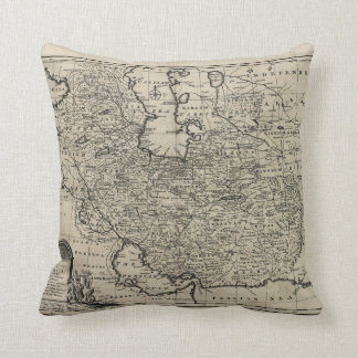 1747 New and Accurate Map of Persia Emanuel Bowen Pillows