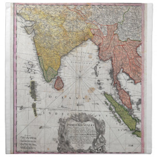 1748 Homann Heirs Map of India and Southeast Asia Cloth Napkin