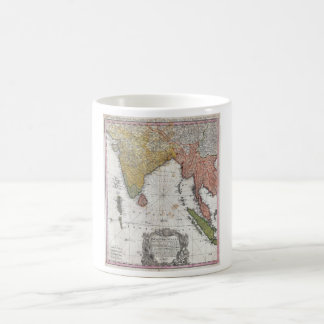 1748 Homann Heirs Map of India and Southeast Asia Classic White Coffee Mug