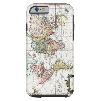 1748 World Map Tough iPhone 6 Case