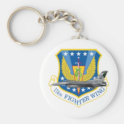174 Fighter Wing F-16 Fighting Falcon Key Chains