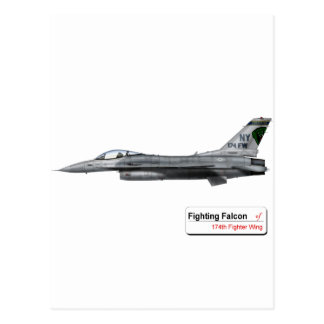 174 Fighter Wing F-16 Fighting Falcon Postcard