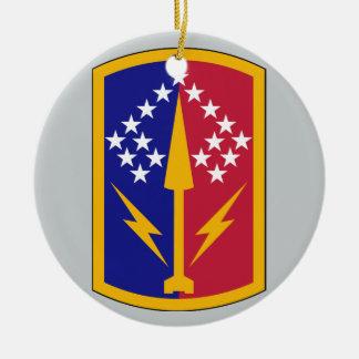 174th Air Defense Artillery Brigade Double-Sided Ceramic Round Christmas Ornament